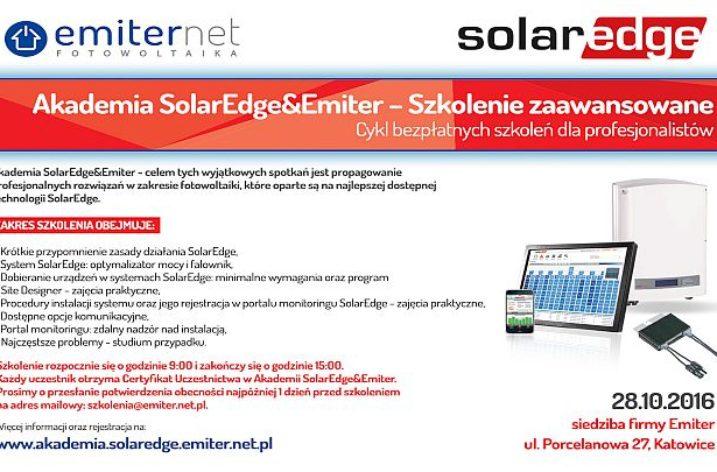 28.10.2016 r. – Akademia SolarEdge&Emiter – Szkolenie zaawansowane