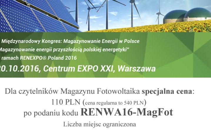 I Międzynarodowy Kongres Magazynowania Energii w Polsce