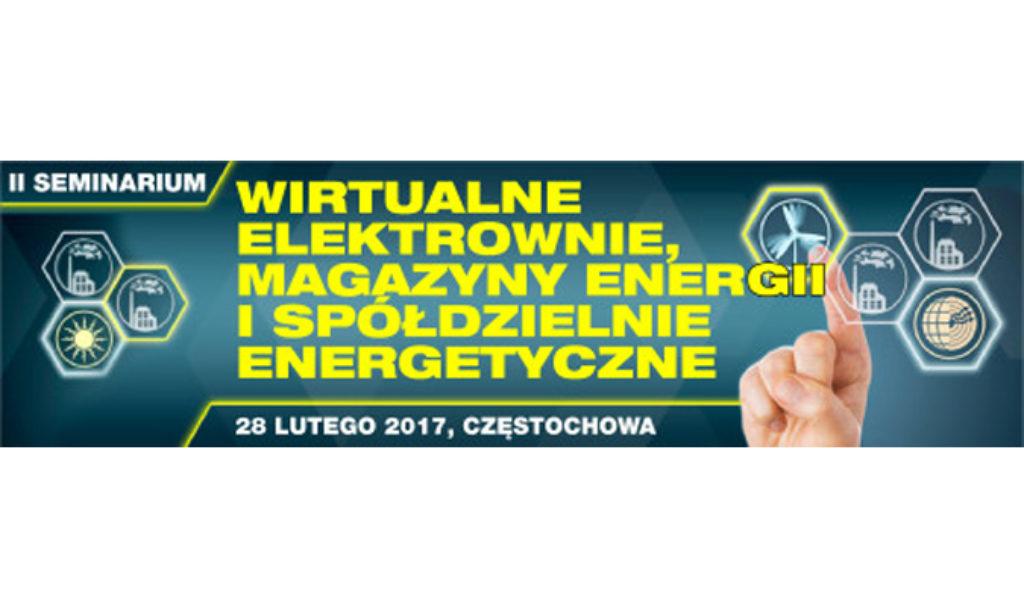 Seminarium Wirtualne Elektrownie, Magazyny Energii i Spółdzielnie Energetyczne
