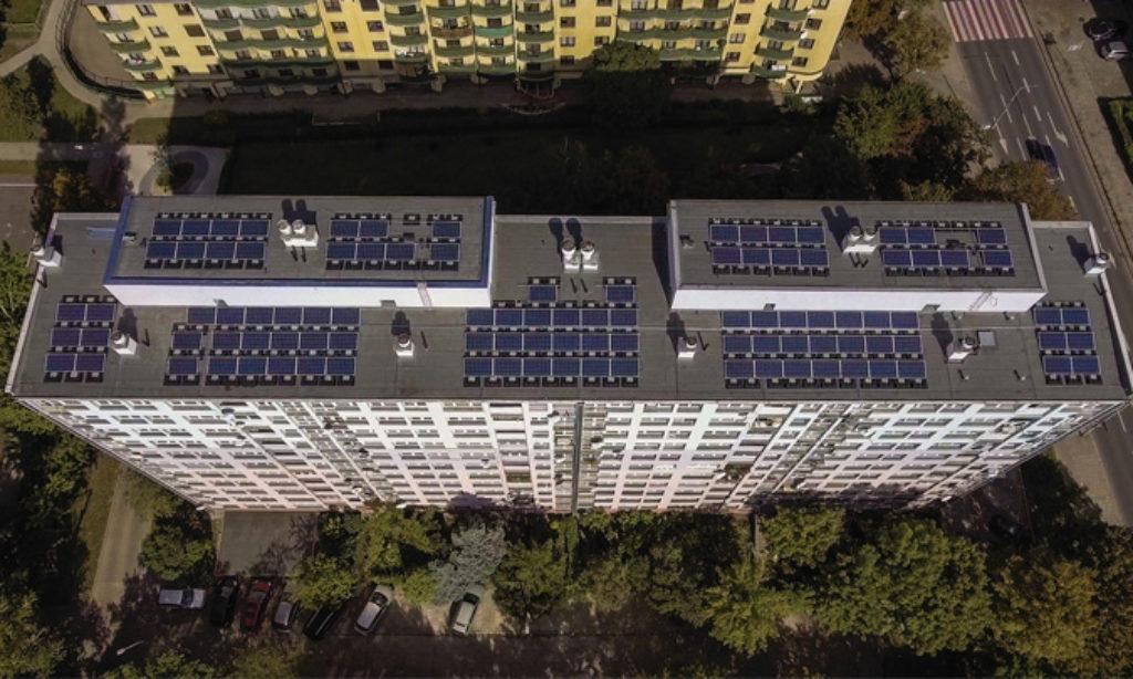 Uruchomienie elektrowni słonecznej na dachach wrocławskich wieżowców