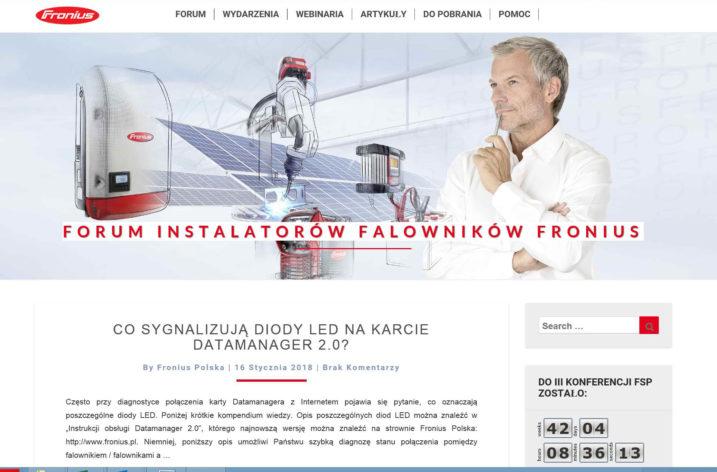 Forum Instalatorów Falowników Fronius