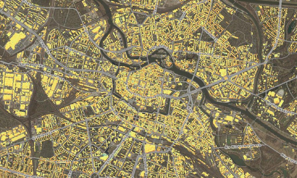 Mapa potencjału solarnego Wrocławia