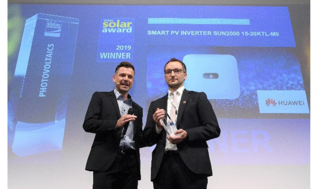Firma Huawei nagrodzona na Targach Intersolar 2019