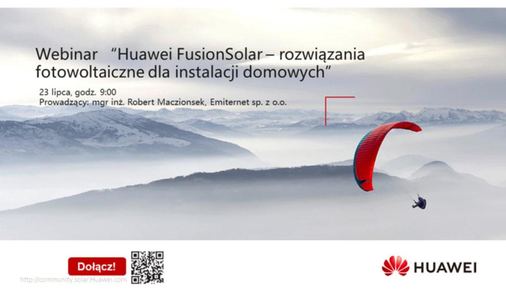 Bezpłatne szkolenia online Huawei FusionSolar