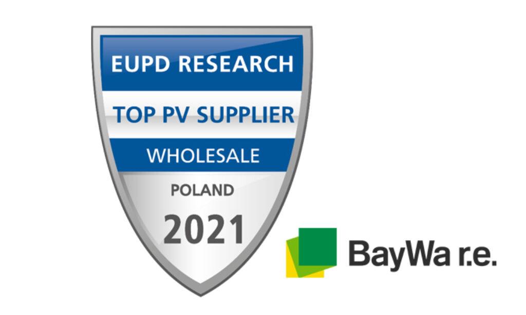 BayWa r.e. Solar Systemsz wyróżnieniem Top Dostawca PV 2021