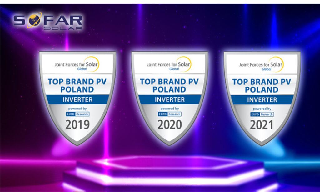"SOFARSOLAR z tytułem Top Brand Inverter"" w Polsce"